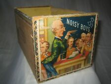 VERY RARE NOISY BOYS J.M.FORTIER 1883-1889 QUEENS FACTORY No 1 CIGAR BOX