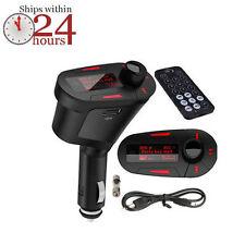 LCD Car Kit Wireless Music MP3 Player SD MMC USB Remote Auto FM Transmitter