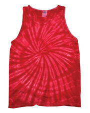 Colortone Tie-dye Tank Top Spiral Red 2xl