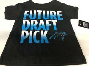 Carolina Panthers NFL Kids 2T Black Future Draft Pick Short Sleeve T-Shirt
