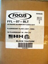Focus Industries Extruded Aluminum Fluorescent Floodlight 120V Black NOS L6