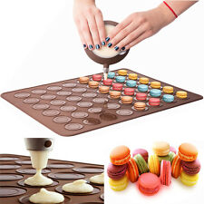 10pcs 48 cavity Silicone Macaron Baking Sheet Mat Muffin DIY Cake Chocolate Mold