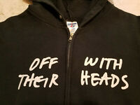 Off With Their Heads - From The Bottom - Black Zip Up Hoodie (Size M)
