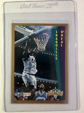 1992-93 Fleer Basketball Shaquille O'Neal Rookie Rare Tonys Pizza RC Edition 🔥
