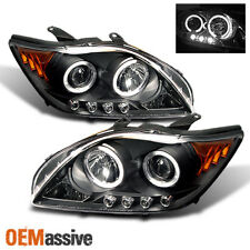 2005-2007 Scion TC Black Bezel Halo Projector LED Headlights Left+Right 2006