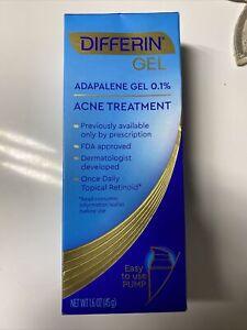 New Differin Adapalene Gel 0.1% Acne Treatment, 1.6 oz. Exp 10/22. Pump Version