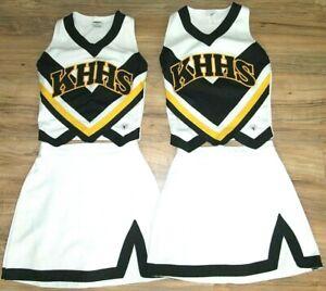 "2 Twin Teen High School Cheerleader Uniform Outfits Costume 32"" Top 25 Skirts"