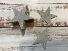 Silver Glitter Star Bunting Garland Very Sparkly Wedding Ramadan Decor Prop 4m