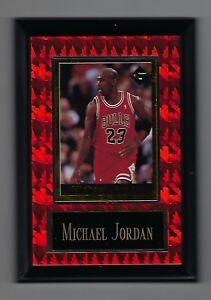"Vintage 1994-1995 6.5"" x 4.5"" Card Plaque Michael Jordan Bulls Investor Focus #2"