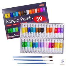Pintura Acrilica-Acrylic Paint Set, Shuttle Art 30 x12ml Tubes Artist Quality