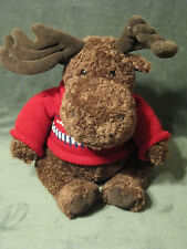 American Eagle Outfitters  Gund Mac the moose Stuffed Plush Animal Red Sweater