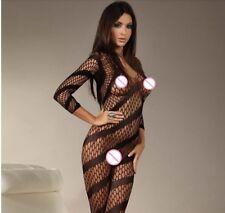 Sexy Lingeria Erotico Bodysuit Mesh Fishnet Body Stocking High Elasticità Dress