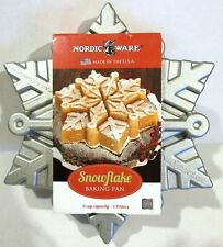 NORDIC WARE Holiday Winter SNOWFLAKE Bread Cake Pan NWT New