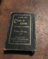 1898 Antique - Music Card Game of Triads or Chords