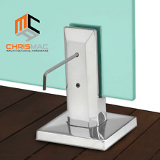 20% OFF ✔ 2205 Stainless Steel Spigot Glass Pool Deck Fence Square Round Spigots