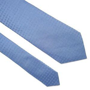 HERMES TIE Faconnee H Pattern in Light BlueTwill Silk Necktie