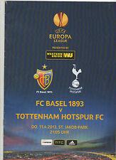 Orig.PRG   Europa League  2012/13   FC BASEL - TOTTENHAM HOTSPUR  1/4 FINALE  !!