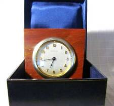 EXCLUSIVE TIFFANY & CO DESK TRAVEL CLOCK WALTHAM MOVEMENT ITALY .925 MARBLE