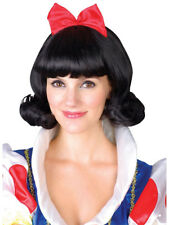 Fairytale Storybook Snow White Wig Adults Ladies Fancy Dress Costume Accessory