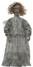 Halloween Animated CRACKED VICTORIAN Talking Light Up Doll Prop Haunted House
