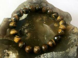 Mens Bracelets Natural Gemstone Brown Tiger Eye Bracelet 10mm beads