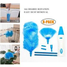 360° Hurricane Spin Electric Duster Motorized Dust Feather Duster Cleaning Brush