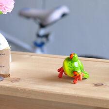 2pcs Resin 3D Frog Figurines for Ca & Desk Computer Decoration Cute Statues