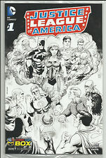 Justice League of America #1 Comic Con B&W & Die-Cut Sketch Variant Set DC