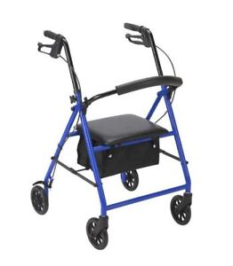 """Drive Medical R800 Blue Rollator with 6"""" Wheels ~SAME DAY FREE SHIPPING ~NEW~"""