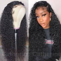 Glueless 9A Indian Virgin Human Hair Wig 150% Density Lace Front Wig Curly Wavy