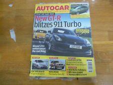 + AUTOCAR + 20/2/08 NISSAN GT-R FIESTA FIAT 500 ABARTH VOLVO XC60 AUDI A4 2.0 TD