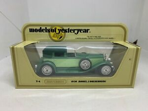 Matchbox Models of Yesteryear Y-4 1930 Model J Duesenberg 2 Tone Green NEW