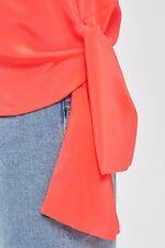 Topshop seta con Cordino Laterale T-shirt by Boutique Taglia 12/40 US 8 RRP £ 49