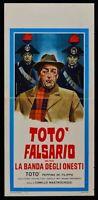 Cartel Toto' Falsificador El Banda De Honesto Totò De Filippo Mosquetón L158