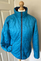 Berghaus Lightweight Quilted Reversable Jacket Uk 14 Tuquoise Purple