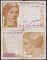 300 FRANCS 1939 FRANCE - Clément Serveau (Cérès) - P87 (S. 0092905)