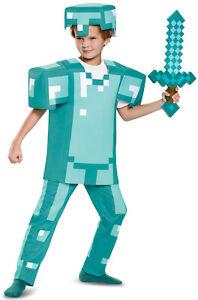 Brand New Minecraft Armor Deluxe Child Costume