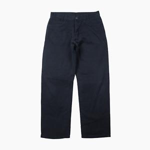 YSL Yves Saint Laurent Pour Homme Mens Black Denim Chino Jeans Waist 32 Leg 30