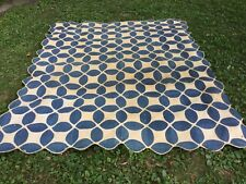Antique blue & White Applique Quilt-Coverlet-Early-Poss ibly Pennsylvania