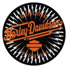 Harley-Davidson Static Charge H-D Round Rug, 22.5 inches, Black NW949188