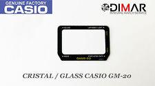 CRISTAL / GLASS CASIO ORIGINAL GM-20 NOS
