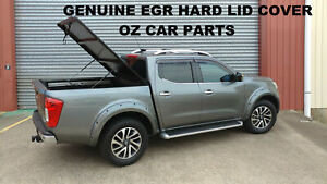 FOR NISSAN NAVARA NP300 D23 Black Aluminium Hard Lid Tonneau Cover GENUINE EGR