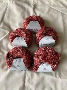 Debbie Bliss Juliet Summer Tweed yarn. 5 x 50g Colour 52013 Dyelot 30