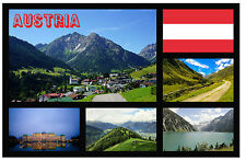 AUSTRIA - SOUVENIR NOVELTY FRIDGE MAGNET - FLAGS / SIGHTS - BRAND NEW / GIFT