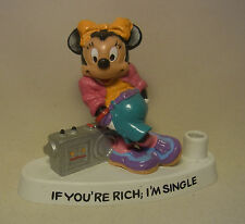 """1988 Minnie Mouse Comic Charakter Stifthalter / Pen Holder """"If you´re rich..."""""""
