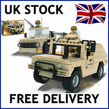 MILITARY ARMY JEEP DESERT BUILDING BRICKS BLOCKS EDUCATION CREATE COMPATIBLE