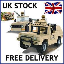 MILITARE Esercito Jeep Deserto Mattoni Blocchi 300 PCS Set Compatibile 18302
