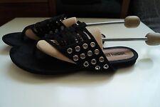 Buffalo Damen-Sandalen & -Badeschuhe-Zehentrenner aus Echtleder