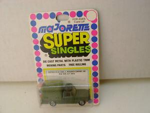 Majorette Super Singles 1:80 Echelle Militaire Toile Étui Camion Neuf Sur Carte