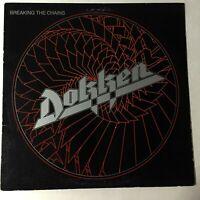 Dokken Breaking The Chains LP VG+ vinyl 1983 Elektra 60290-1 First Pressing